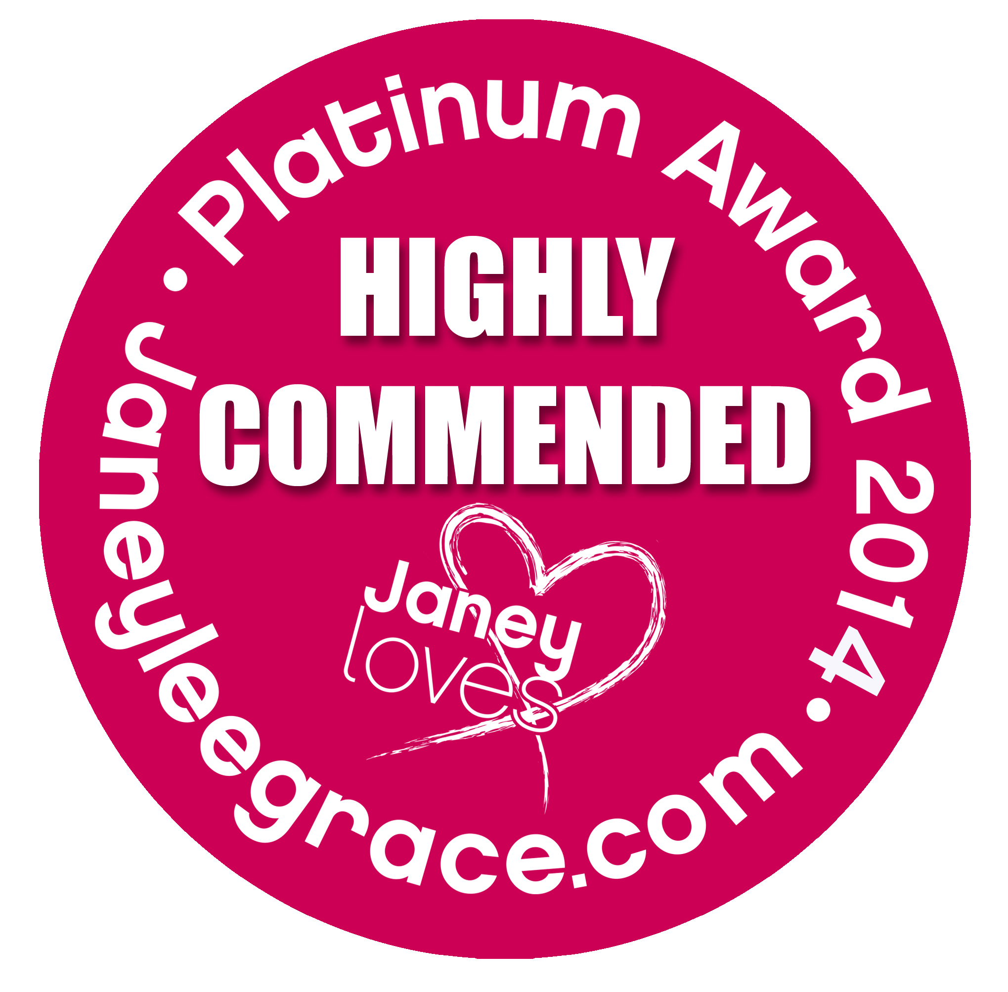 Janey Loves 2014 Platinum Award