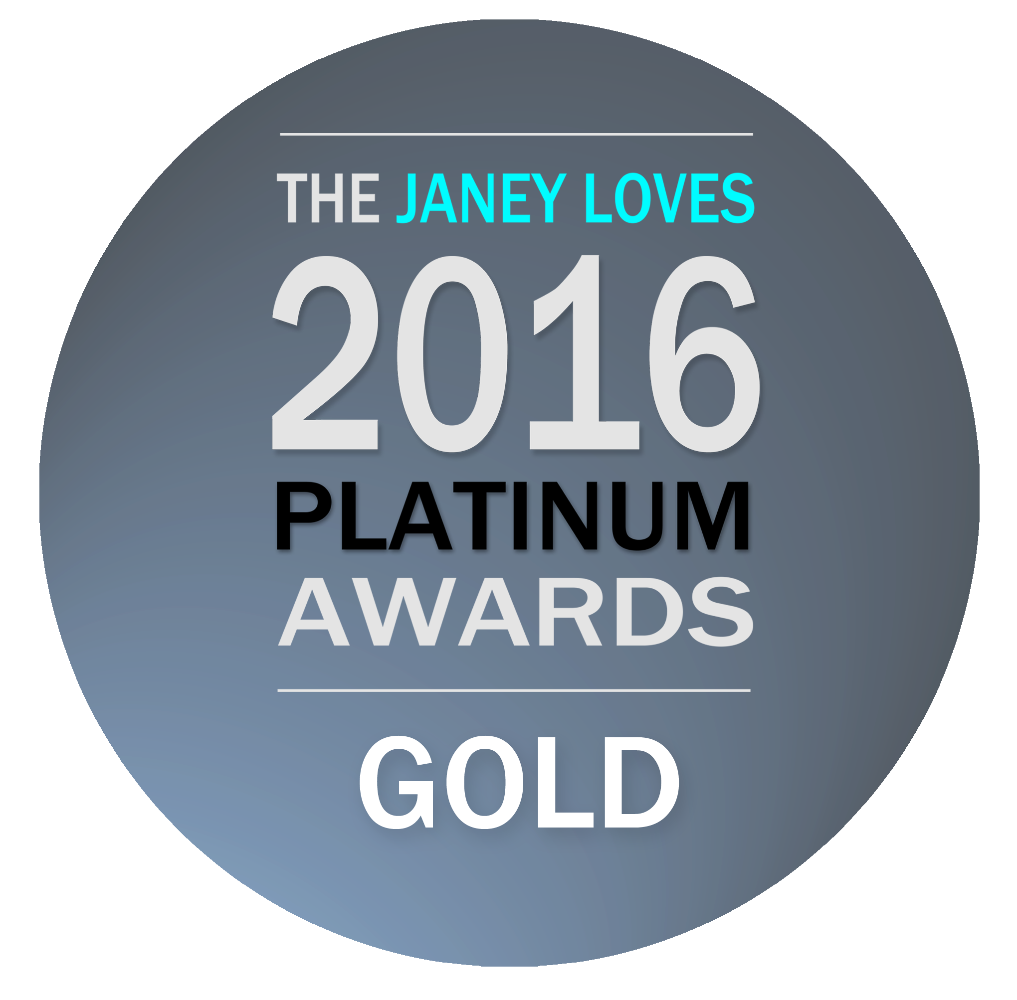 GOLD Award in the Janey Loves 2016 PLATINUM AWARD